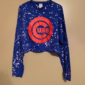 VS PINK Cropped Chicago Cubs Long Sleeve Sz Large